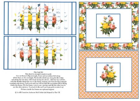 Mother's Day Flip Greeting Card Craft Sheet